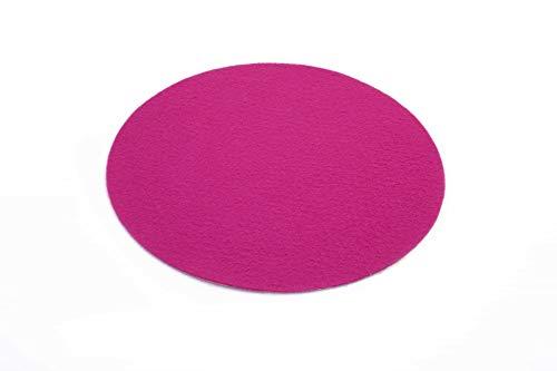 Primaflor - Ideen in Textil Eventteppich Hochzeitsteppich Podium Rund Pink - 1,00m Durchmesser 2,6mm Hoch - Weihnachtsbaum Teppich, Weihnachtsbaum Decke, Stehtischunterleger Messeteppich