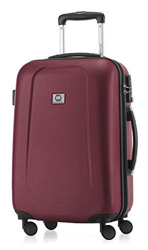 HAUPTSTADTKOFFER - Wedding - Handgepäck Koffer Kabinen Hartschalen-Koffer Trolley Rollkoffer Reisekoffer, TSA, Doppelrollen 55 cm, 42 Liter, Burgund