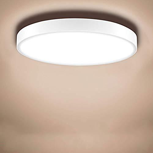 Sararoom 36W LED Lámpara de Techo, Moderna Plafón Led de Techo Φ50cm 2880LM 3200K Blanco cálido Empotrable Moderna LED Plafón Para Cocina Estar Comedor Estudio Pasillo Dormitorio Oficina