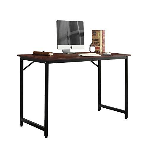 Nero DlandHome Scrivania per Computer a Forma di L 140 + 64 cm Scrivania a L con ripiano e Vassoio per Tastiera Tavolo da Lavoro
