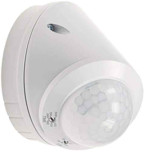 ChiliTec Aussen Bewegungsmelder für Wand und Decken Montage IP65 360° Sensor I LED geeignet I 8m Detektion I Zeit Reichweite einstellbar I Weiß