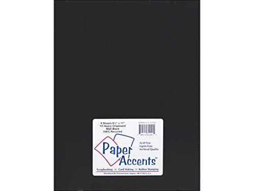 Accent Design Paper Accents Heavy 50pt Chpbrd 8.5x11 Black