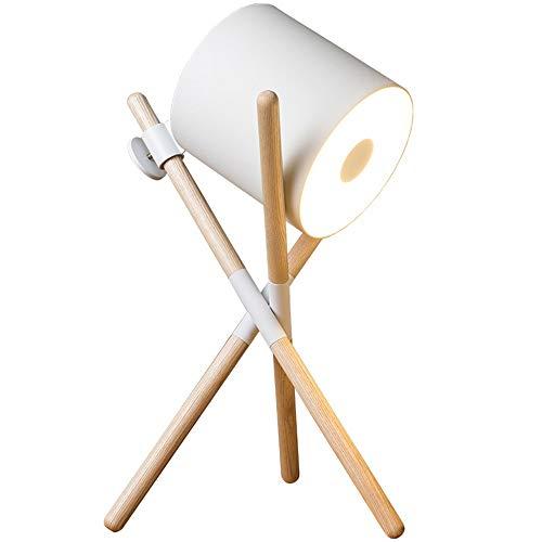 LWX Lámpara de Mesa de Nuez de Cuero Blanco Nórdico Minimalista Moderna Personalidad Creativa Sofá Cama y Escritorio Estudio Reading Dormitorio Luz Decoración del hogar