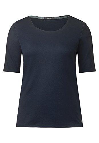 Cecil Damen Halbarmshirt in Unifarbe deep Blue XXL