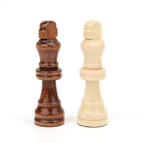 32 Pezzi degli Scacchi in Legno Gioco di Scacchi Internazionale Giocattolo Interattivo Genitore-Figlio Puzzle Giocattolo Cognitivo Compleanno Natale Regalo per 3 4 5 6 + Anni Bambini Adulto