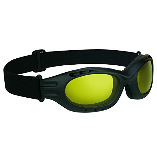 Bikershades Motorcycle Riding Goggles Glasses Biker Yellow Night Foam Cushion Adjustable Strap Ski Sky Diving