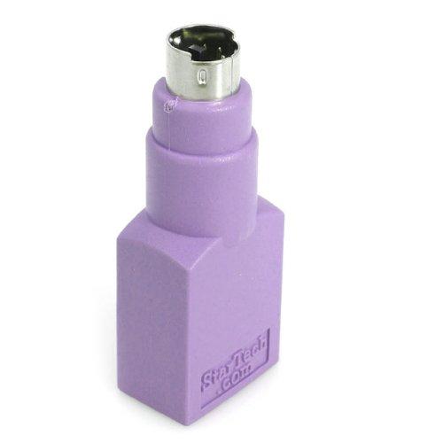 StarTech.com USB auf PS/2 Tastatur Adapter, Keyboard Adapter PS/2 (6 pin Mini-DIN) Stecker zu USB A (4 pin) Buchse, Ersatzadapter