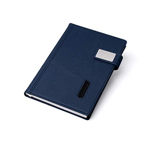 ywewsq Cuaderno A5 Cuadernos de Tela de Bolsillo Cuaderno Retro de Cuero Cuaderno de Papel para Escribir 240 páginas Bloc de Notas de 5.7'x8.5 (Color: Azul, Tamaño: A5)