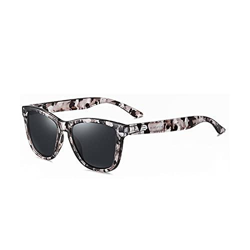 MAOXING Gafas De Sol Retro Polarizadas para Hombre Y Mujer, Gafas De Conducción De Moda Uv400 C01