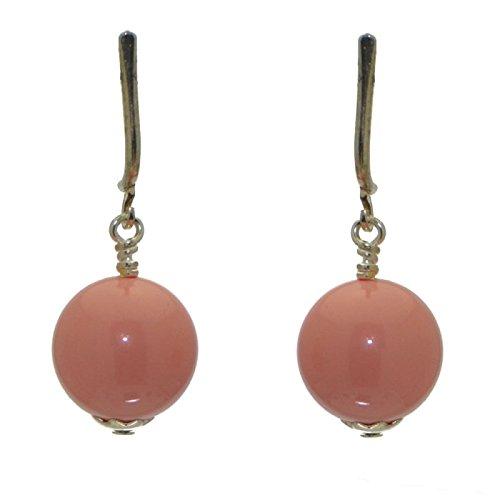 LINDSEY 12mm Orecchini a clip corallo rosa placcato argento