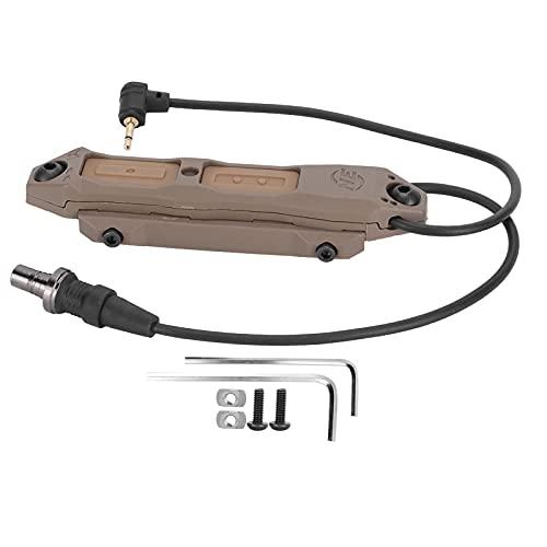 Alomejor Dualer Remote-Druckschalter, Manueller Druckschalter für Outdoor-Taschenlampe PEQ-Lichtzubehör Dual-Schalter