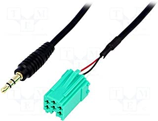 Audioproject A222 Auto-radio AUX-adapter 3,5 mm, mini plug, ISO, 3,5 mm Plug Mini ISO voor iPod iPhone iPad MP3 speler voo...