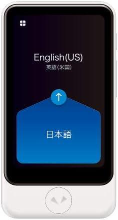 Pocketalk Plus Real Time Two-Way Voice & Camera 82 Language Translator- Extra Large Screen & Longer Battery Life.