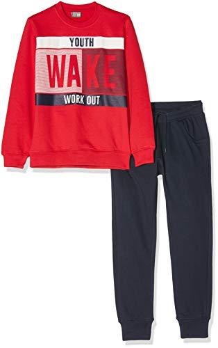 Losan Jungen 923-8652aa Sportbekleidung Set, Rot (Rojo 051), Jahre (Herstellergröße: 12)