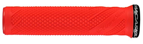 Lizard Skins Unisex's Single-Sided Lock-On Danny MacAskill Handlebar Grips, Fire Red, One Size