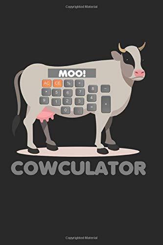 Cowculator: Mathe-Rechner Lustige Kuh Moo Mathematik Bauer Notizbuch gepunktet DIN A5 - 120 Seiten für Notizen, Zeichnungen, Formeln   Organizer Schreibheft Planer Tagebuch