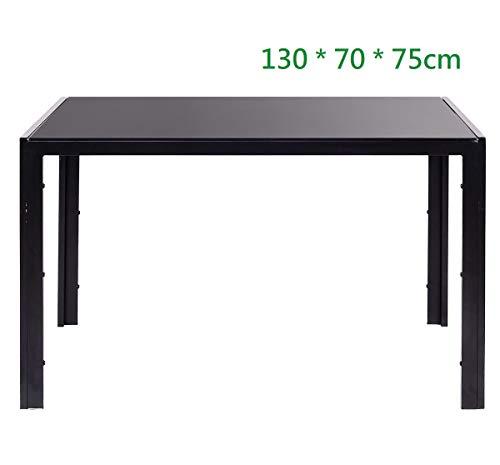 Essgruppe Tischgruppe Esstisch Stuhl Set Tischgruppe Esstischgruppe Sitzgruppe Esszimmergarnitur Glas Metall Esstisch (Schwarz, Nur Tisch (130 * 70 * 75))