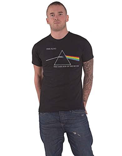 Générique Pink Floyd DSOTM Courier T-Shirt, Noir, (Taille Fabricant: X-Large) Homme