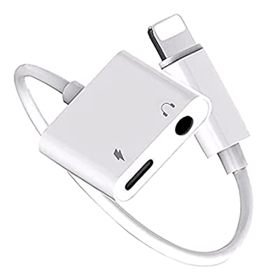 [Apple MFi Certified] Lightning to 3.5mm Headphone Adapter for iPhone 12 Earphone Jack Aux Audio Headset Cable Convertor Compatible with iPhone 12 Pro/11/8/8P/7/7P/X/XR/XS Support All iOS System-White from Carphone Warehouse