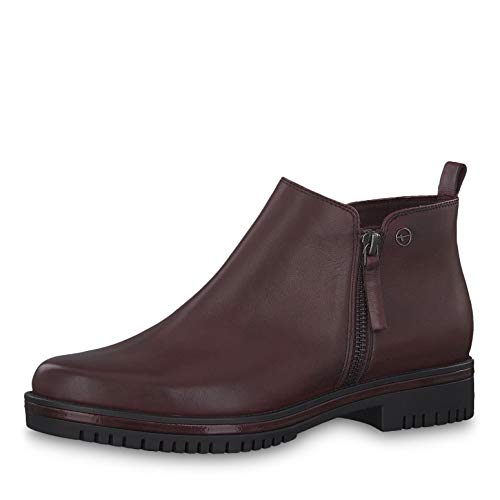 Tamaris Damen Stiefeletten 25496-23, Frauen Ankle Boots, weibliche Ladies feminin elegant Women's Women Woman Freizeit leger,Bordeaux,39 EU / 5.5 UK