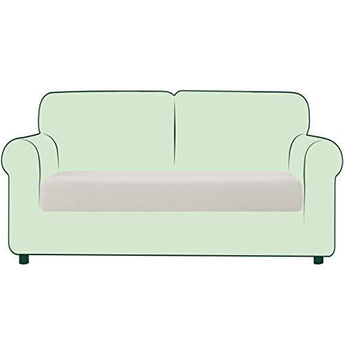 CHUN YI 1 Stück Sofa Sitzkissenbezug Stretch Sitzkissenschutz Elastischer Husse Überzug für Sofa Sitzkissen rutschfest Stoff Möbelschutz(2-Sitzer, Beige)