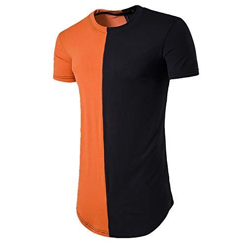 NOBRAND Langärmliges T-Shirt für Herren. Gr. M, Orange