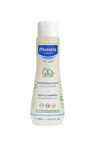 Mustela Baby Gentle Shampoo with Natural Avocado – Hair Care for Kids of all Ages & Hair Types - Tear-Free & Biodegradable Formula - 6.76 fl. oz.