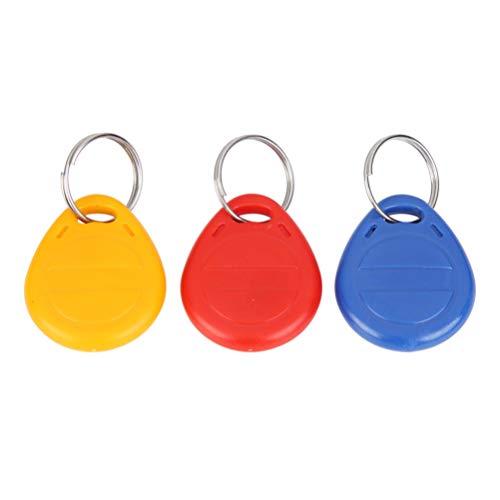 BESPORTBLE 3 Stks ID-kaart Token Tags Sleutelhangers sleutelhangers voor deurtoegangscontrole Beveiligingsslot Groothandel (Geel Rood Blauw)