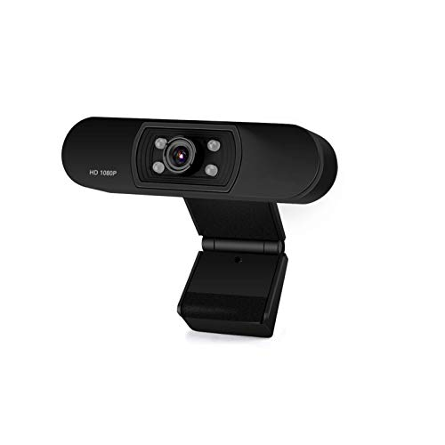 Webcam HD 1080p Web Camera, USB PC Computer Web Camera, 4 Pcs LED Fill Light Video Cam for Streaming Gaming Conferencing for Windows PC Laptop YouTube