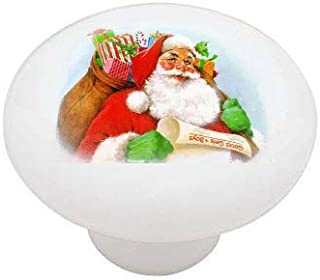 Vintage Christmas Santa Ceramic Drawer Knob