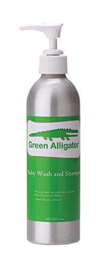 Celadon Road Green Alligator Baby Wash & Shampoo - No Sulfates or Paraben and Naturally Tear Free - The best non-toxic safe bath for kids and babies - 10oz - Made in USA