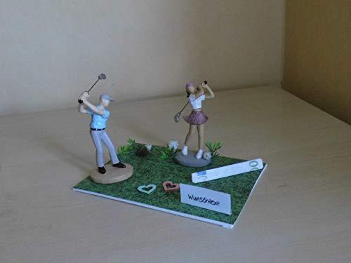Geldgeschenk - Dekoration für den Golfer, Golferin, Golf Sport