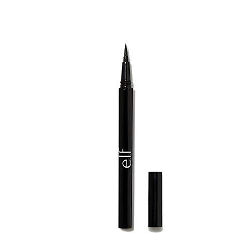 e.l.f., H2O Proof Eyeliner Pen, Long Lasting, Smooth, Bold, Liquid Formula, Enhances, Defines, Creates Thin or Thick Lines, Jet Black, Felt Tip Applicator, 0.02 Fl Oz