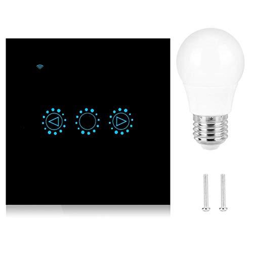 Wifi Dimming Smart Switch Robuster LED-Schalter Langlebiger Smart Timing-Schalter Halogenlampen Jod-Wolfram-Lampen(black, 90-250V)