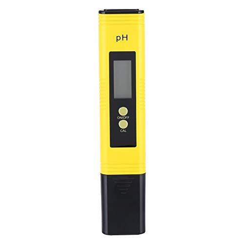 MAGT Draagbare LCD digitale PH-meter, hoge nauwkeurigheid pH-tester voor water 0,01 resolutie 0-14 meetbereik pH-meter met auto-kalibratie aquarium, Pool Wate, R Wine Tester Tool (kleur: geel)
