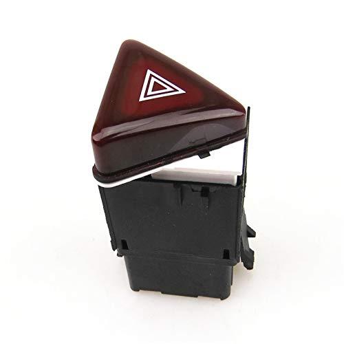 KASILU Jidian48 Glum Red Hazard Monición Newsbreak Interruptor Interruptor de Emergencia Interruptor de Emergencia para Golf 5 MK5 Rabbit 18G 953 509 18G953509 Reemplazo