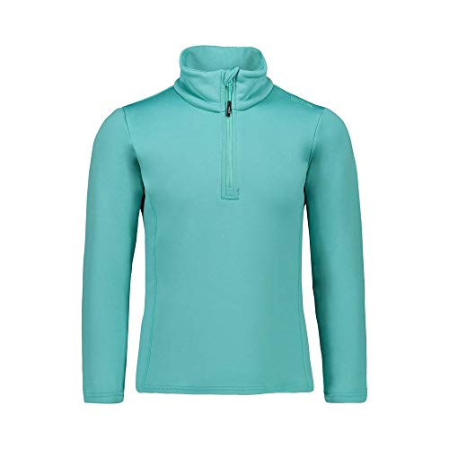 CMP Mädchen Felpa in Pile Stretch Performance Long Sleeve Shirt, Aqua (blau), 140