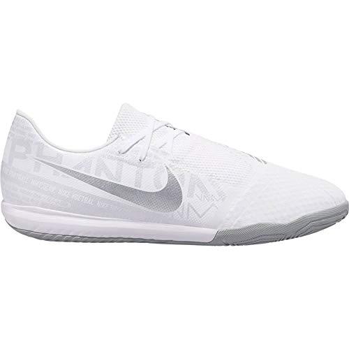 Nike Phantom Venom Academy IC, Zapatillas de fútbol Sala Unisex Adulto, Blanco (White/Chrome/Metallic Silver 100), 42.5 EU