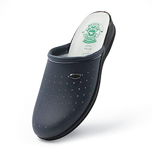 Jomix Zapatillas Sanitarias para Mujer y Hombre, Anatómicas, Fabricadas en Italia, con Plantilla de Piel Auténtica