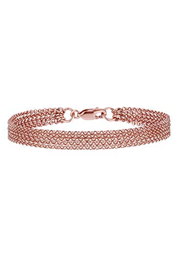 Elli Damen-Tennisarmband Basic Armband 925 Sterling Silber 0209472914_18 - 18cm Länge