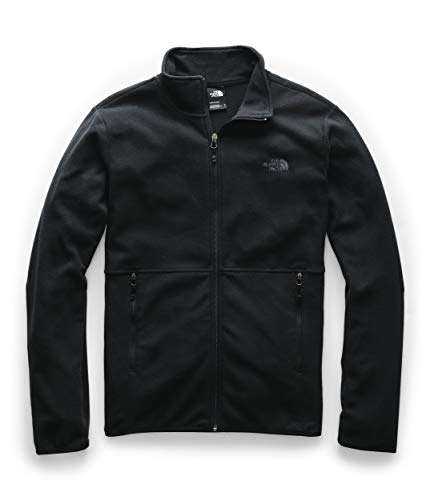 The North Face Men's TKA Glacier Full Zip Jacket, TNF Black/TNF Black, M