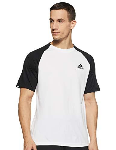 adidas Club C/B Tee T-Shirt pour Homme L Blanc/Noir/Noir