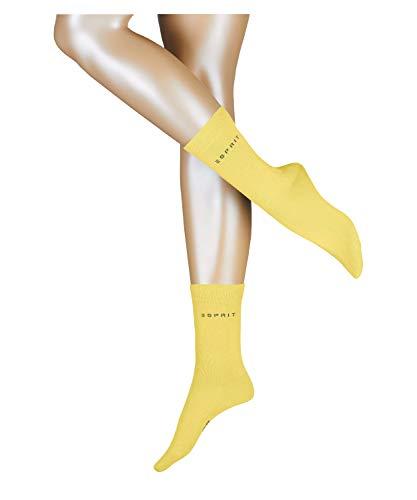 ESPRIT Uni 2-Pack W SO Calcetines, Amarillo (Vanilla 1360), 35-38 para Mujer
