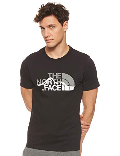 The North Face Mountain Line Tee, Maglia a Maniche Corte Uomo, Nero (TNF Black), M