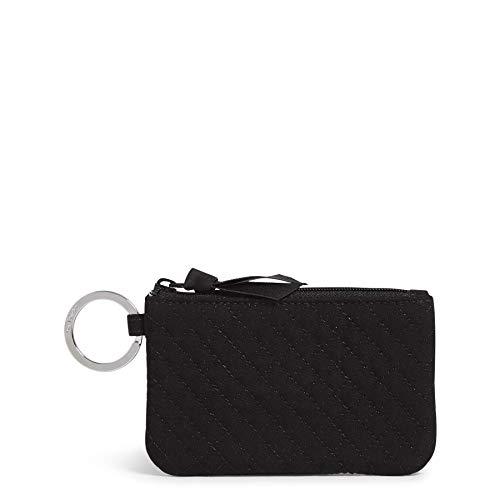 Vera Bradley Women's Microfiber Zip ID Case Wallet, True Black, One Size