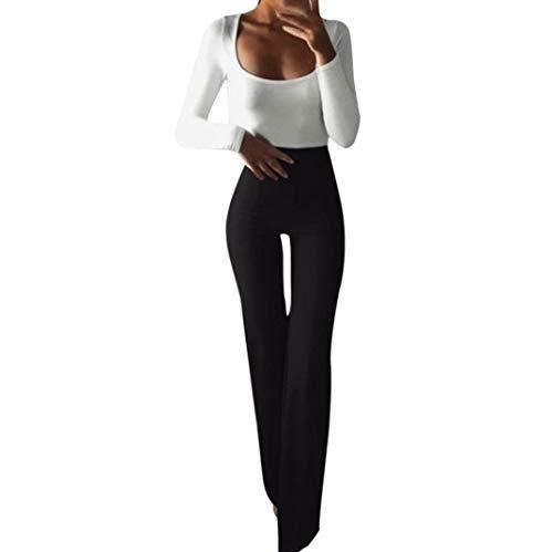 TUDUZ Damen Yoga Hose mit hoher Taille mit ausgestelltem Bein, Sporthose, Bootcut Jogginghose für Yoga und Jogger