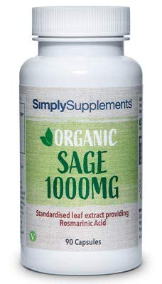Organic Sage Capsules | Menopause Support | 90 Capsules = Up to 3 Month Supply | Vegan & Vegetarian Safe