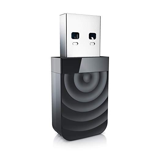CSL - Adaptador WLAN USB 3.2 1300 Mbit s - 2.4Ghz 5Ghz - Banda Dual - Antena de 5 dBi - Mini WiFi Stick 1300 Mbit s - LAN inalámbrica - Dongle de Red USB 3.2 Gen1 - para PC y portátil - Windows 10