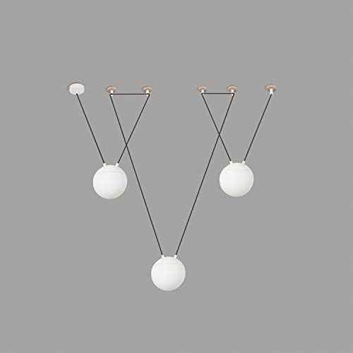 Faro Barcelona 28375 – 3L – Mine Suspension 3 lumières Blanc