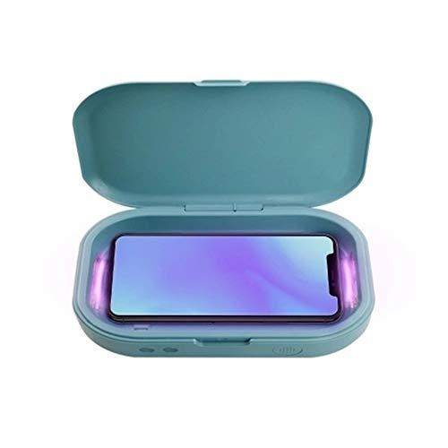 AFCITY-home Professionelle Desinfektionsbox Telefon-Sterilisator Sterilisation Aroma Diffuser Licht Handys Sanitizer (Farbe : Blau, Größe : Ones)